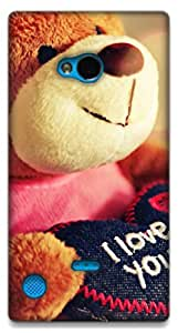 The Racoon Grip teddy loves you hard plastic printed back case / cover for Nokia Lumia 720