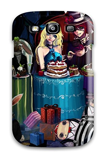 Fashionable Kvdycsf1722Npfak Galaxy S3 Case Cover For Alice In Wonderland Anime Tea Party Protective Case