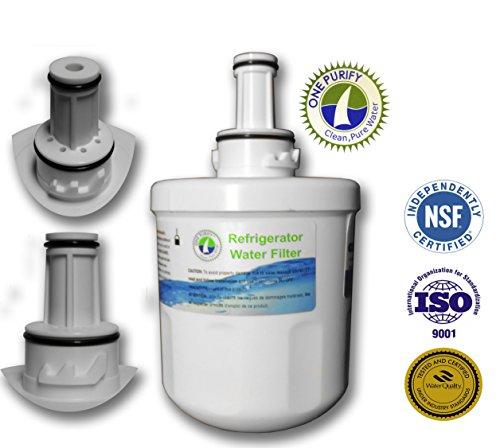 Onepurify Water Filter To Replace Samsung, Whirlpool, After 2010 Models (3-Notch), Aqua Pure, Aqua Pure Plus, Da29-00003, Da29-00003A, Da29-00003A-B, Da29-00003B, Da29-0003B, Da2900003A, Da2900003B, Da61-00159, Da61-00159A, Da61-00159A-B, Da61-159, Da97-0 front-99855