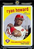 2008 Topps Heritage # 380 Ryan Howard - Philadelphia Phillies - MLB Baseball Trading Card