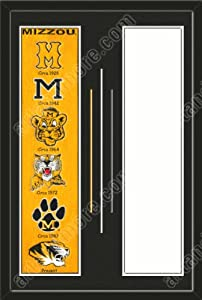 Missouri Tigers & Your Choice of other Team Heritage Banner Framed-House... by Art and More, Davenport, IA