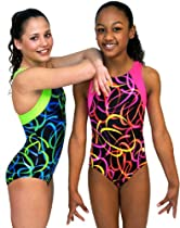 Confetti Gymnastics Leotard - Green (Adult Extra Small)
