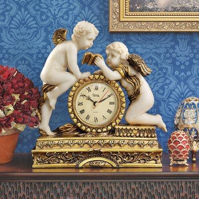 Chateau Carbonne Cherub Mantle Clock