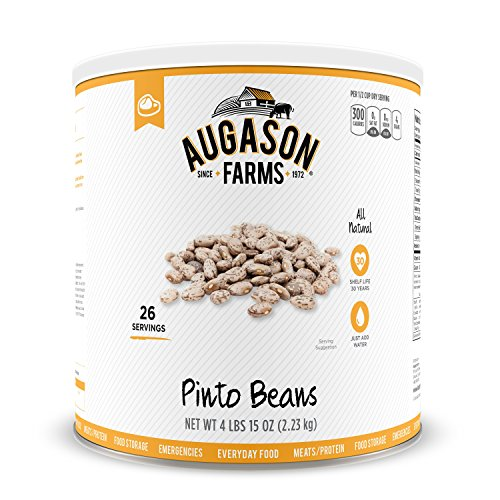 Augason Farms Pinto Beans #10 Can, 79 oz (Freeze Dried Refried Beans compare prices)