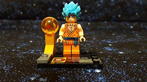 LEGO Compatibili Minifigures Dragon Ball Son Goku Super Saiyan God 2 Blue Z Resurrection F