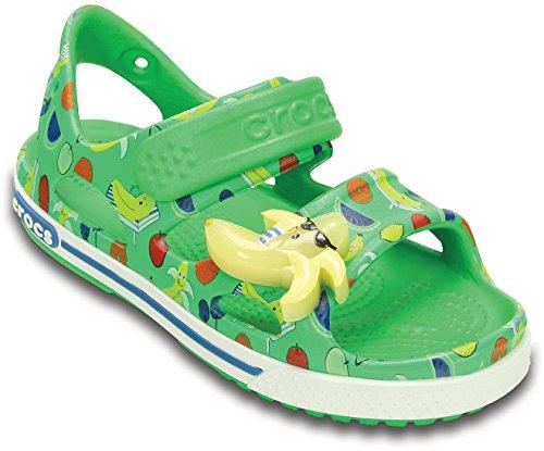 crocs Crocband II Banana LED Sandal (Toddler/Little Kid), Grass Green, 6 M US Toddler