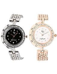 CB Fashion Combo Of Analog Multicolour Dial Women's Watch (RW134)