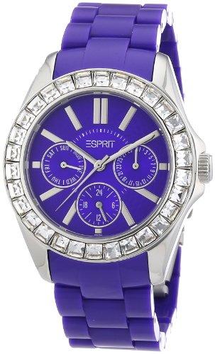 Esprit A.ES105172004 - Reloj analógico de cuarzo para mujer con correa de plástico, color morado
