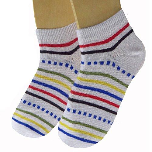 Shimasocks-chaussettes-pour-Sneaker-pour-Enfants-Pack-de-3Neuf-blanc-3538
