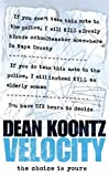 Velocity (0007196970) by Dean Koontz