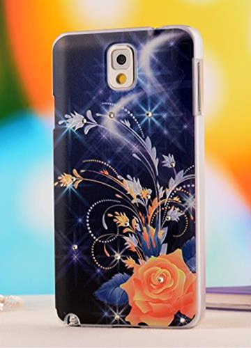 Nancy'S Shop Colorful Painting 3D Hard Cell Phone Accessories Case And Covers For Unlocked Tmobile Samsung Galaxy Note 3 Iii (Flower And Night Sky)