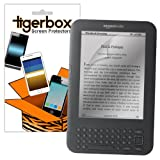 Tigerbox 10 Pack of Crystal Clear Screen Protectors Cover Guard Film For Amazon Kindle Keyboard / Keyboard 3G Reader
