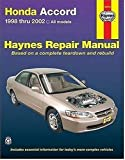 img - for Honda Accord 1998-2002: All Models (Haynes Repair Manuals) book / textbook / text book