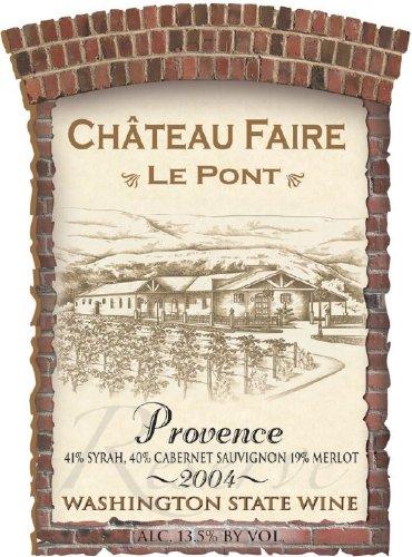 "2004 Chateau Faire Le Pont ""Provence"" Washington State Red Blend 750 Ml"