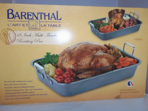 "Professional French Heavy Duty Steel 18 "" Roasting Pan"