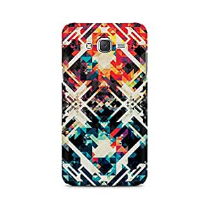 Ebby Two Square Abstract Premium Printed Case For Samsung J5 2016 Version