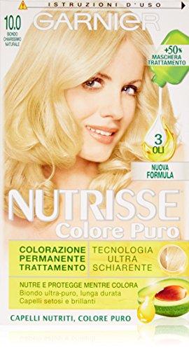 Garnier Nutrisse Colore Puro Colorazione Permanente Nutritiva, 10.0 Biondo Chiarissimo Naturale