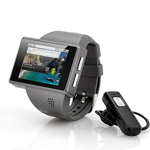 New Shop Android Phone Watch Rock 2 Inch Capacitive Screen 8Gb Micro Sd Camera (Grey)