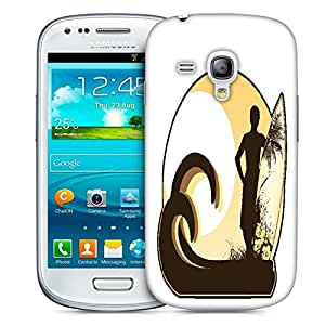 Snoogg Summer Illustration Designer Protective Back Case Cover For Samsung Galaxy S3 Mini