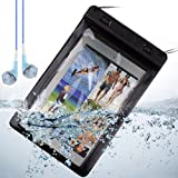 Black Waterproof Dry Pouch for Ipad Mini / Samsung Galaxy Tab 4 7 inch / Kindle Fire Hd 7