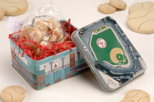Fenway Park Stadium Tin with Baseball Cookies