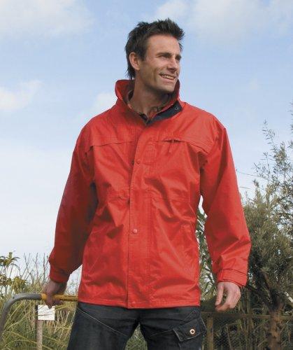 Mens Result Midweight Multi-Function Jacket Small Red/Navy