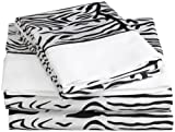 Black and White Zebra Sheet Set