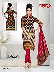 Anand Prints Women's Cotton Unstitched Dress Material (Dno101_MultiColored)