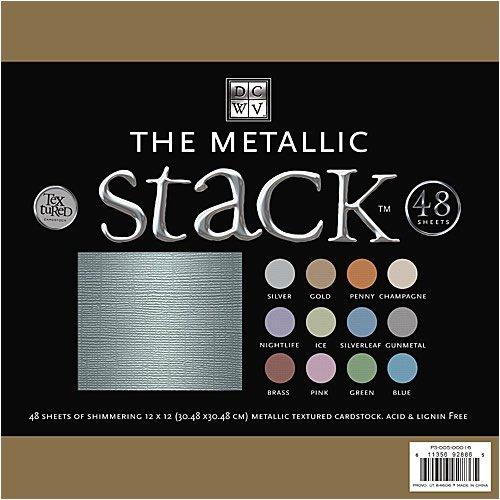 DCWV 12 Inch x12 Inch Premium Cardstock Stack - Metallic