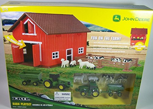 Ertl John Deere Barn Playset W/Tractor And Farm Animals front-850259