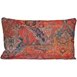 """Ethnic Rug Red Printed Cushion Cover Decorative Pillow Throw Fabric Moroccan Style 20"""" x 12"""""""
