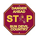 Arizona State University Sun Devils College NCAA Collegiate Sports Team Logo Home Office Garage Wall Stop Sign - DANGER AHEAD SUN DEVIL COUNTRY