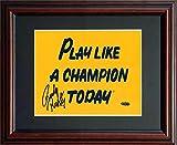 Rudy Ruettiger Steiner Signed Framed Notre Dame Football Sign-8x10