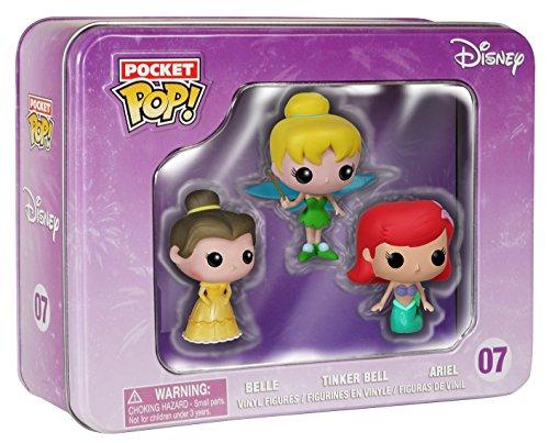 Funko - Pop! Disney Confezione 3 Personaggi: Ariel, Campanellino e Belle