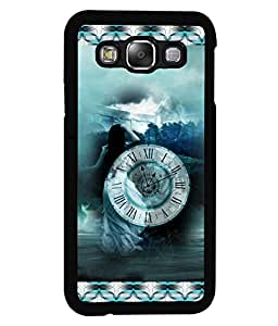 PrintVisa Metal Printed Time Designer Back Case Cover for Samsung Galaxy E5-D4699