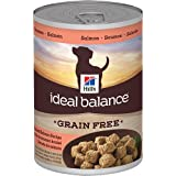 Hill's Ideal Balance Grain-Free Braised Salmon Recipe Dog Food Can, 12.8-Ounce, 12-Pack