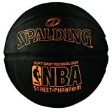 Spalding 71023 NBA Street Phantom Outdoor Basketball, Neon Orange/Black, Size 7/29.5