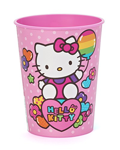 American Greetings Amscan Hello Kitty Rainbow Plastic Cup, 16-Ounce