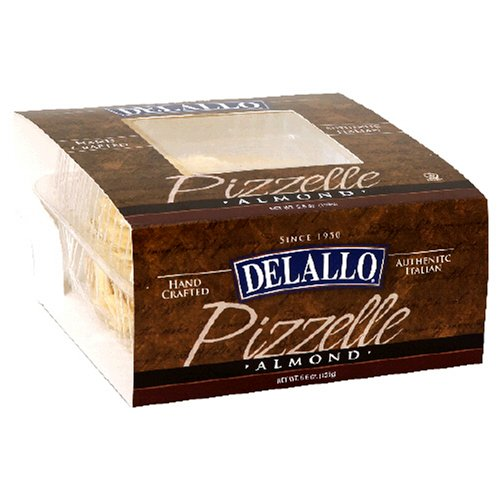 DeLallo Almond Pizzelle, 5.6-Ounce Units (Pack of 6)