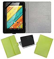 ACM LEATHER FLIP FLAP TABLET HOLDER CARRY CASE STAND COVER FOR DIGIFLIP PRO XT712 TAB GREEN