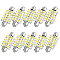 See 10pcs 41mm 5050 SMD 8-LED Festoon Dome Light Warm White 560 Internal Details
