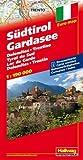 Hallwag Straßenkarten, Südtirol, Gardasee, Dolomiten, Trentino: Dolomiten, Trentino. Strassenkarte mit Ortsverzeichnis und Sehenswürdigken (Road Map) 2012