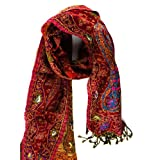 JousJous Handmade Wool Flowering Beauty Scarf, Multicoloured, One Size