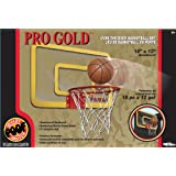 POOF-Slinky 455BL POOF Pro Gold Over The Door 18-Inch Breakaway Rim Basketball Hoop Set with Clear Shatterproof...