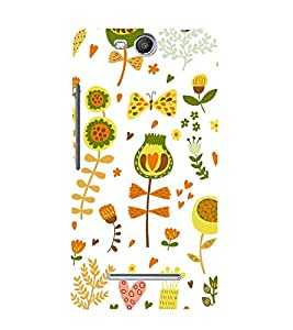 Flowers Nature 3D Hard Polycarbonate Designer Back Case Cover for MicromaxBoltQ338