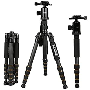 ZOMEi® Z669C (Updated Version) Portable Carbon Tripod