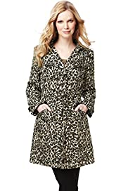 Easycare Shower Resistant Animal Print Mac with Belt