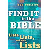 Find It in the Bible: Lists, Lists, and Lists ~ Bob Phillips