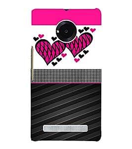 Creative Heart Design 3D Hard Polycarbonate Designer Back Case Cover for YU Yureka AO5510