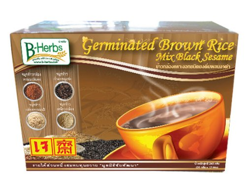B-herbs Germinated Brown Rice with Black Sesame Beverage 240g. (20g.x12 Sachets)